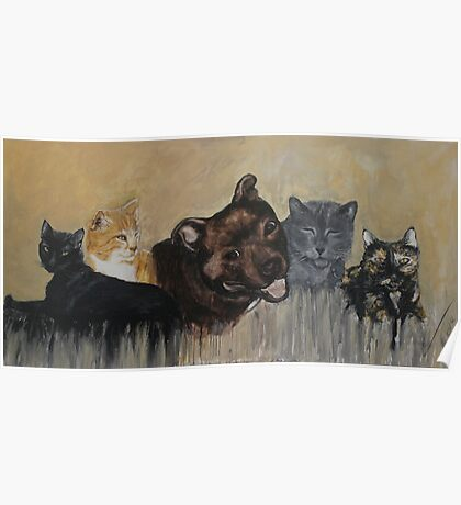 Furry Family Poster