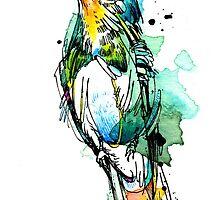 Emerald Hummingbird by Abby  Diamond