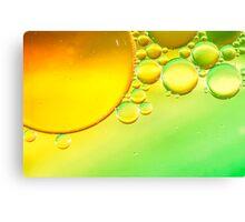 Abstract Sun Bubbles Canvas Print