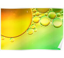 Abstract Sun Bubbles Poster
