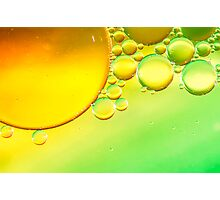 Abstract Sun Bubbles Photographic Print