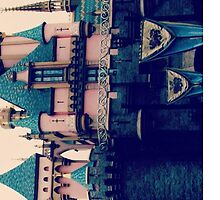 Disney Castle Pink by PnkPassiveRogue
