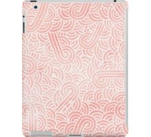 Rose quartz and white swirls doodles iPad Case/Skin