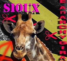 Siouxsie Sioux The ANARCHY Giraffe! by Elliot Elizabeth