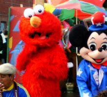Pokemon,Elmo & Micky Mouse in Coney Island Sticker