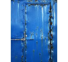 Rusty Blue Door Photographic Print
