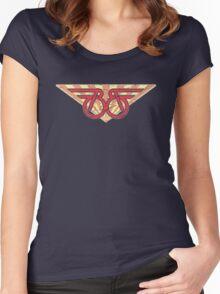 Buckaroo Banzai retro wings Women's Fitted Scoop T-Shirt
