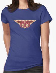 Buckaroo Banzai retro wings Womens Fitted T-Shirt