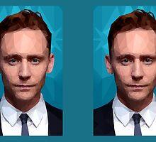 Geometric Tom Hiddleston by Rotae