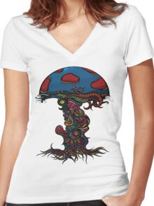 Heavy Shroom Women's Fitted V-Neck T-Shirt