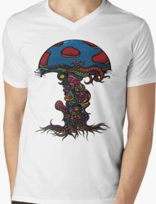 Heavy Shroom Mens V-Neck T-Shirt