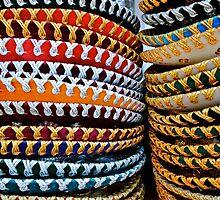 colourful Sombreros by richard  webb