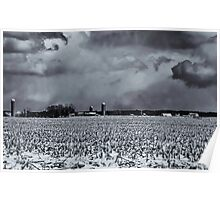 Spring Storm Clouds Over Farmland Poster