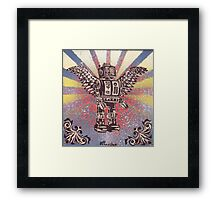 Flying Robot Framed Print