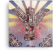 Flying Robot Metal Print