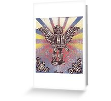 Flying Robot Greeting Card
