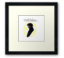 I Believe in Sherlock Holmes. Framed Print