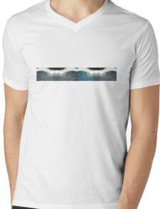 Psychedelic Barrels Mens V-Neck T-Shirt