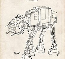 Star Wars AT-AT Imperial Walker US Patent Art by geekuniverse