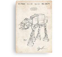 Star Wars AT-AT Imperial Walker US Patent Art Canvas Print
