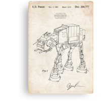 Star Wars AT-AT Imperial Walker US Patent Art Canvas Print