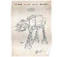 Star Wars AT-AT Imperial Walker US Patent Art Poster