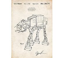 Star Wars AT-AT Imperial Walker US Patent Art Photographic Print