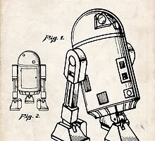 Star Wars R2D2 Droid US Patent Art by Steve Chambers