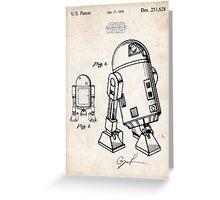 Star Wars R2D2 Droid US Patent Art Greeting Card