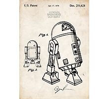 Star Wars R2D2 Droid US Patent Art Photographic Print