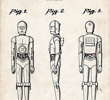 Star Wars C3PO Robot US Patent Art by Steve Chambers