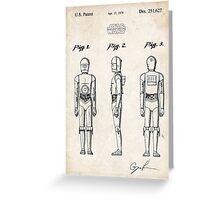 Star Wars C3PO Robot US Patent Art Greeting Card