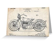 Harley Davidson Motorcycle US Patent Art 1928 Greeting Card