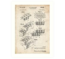 Lego Toy Blocks US Patent Art Art Print