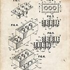 Lego Toy Blocks US Patent Art by geekuniverse