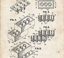 Lego Toy Blocks US Patent Art by Steve Chambers