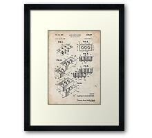 Lego Toy Blocks US Patent Art Framed Print