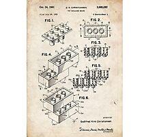 Lego Toy Blocks US Patent Art Photographic Print