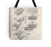 Lego Toy Blocks US Patent Art Tote Bag