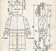 Lego Minifigure US Patent Art by Steve Chambers
