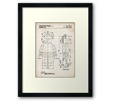 Lego Minifigure US Patent Art Framed Print