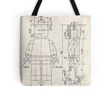 Lego Minifigure US Patent Art Tote Bag