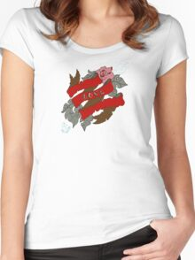 Flowers and ribbon Women's Fitted Scoop T-Shirt