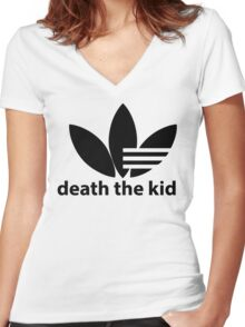 Death the kid Soul eater Adidas.  Women's Fitted V-Neck T-Shirt