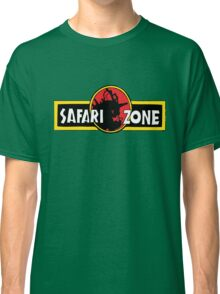 Safari zone pokemon jurassic park Classic T-Shirt