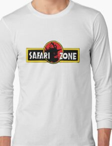 Safari zone pokemon jurassic park Long Sleeve T-Shirt