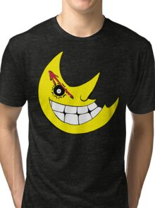 Moon from Soul eater and watchmen logo mashup Tri-blend T-Shirt