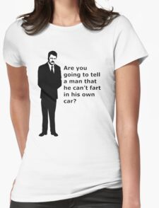 """swanson - quote"" Womens Fitted T-Shirt"