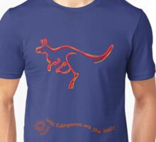 Wild Kangaroos are the best! curvy text Unisex T-Shirt