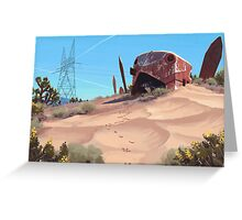Mojave Metal III Greeting Card